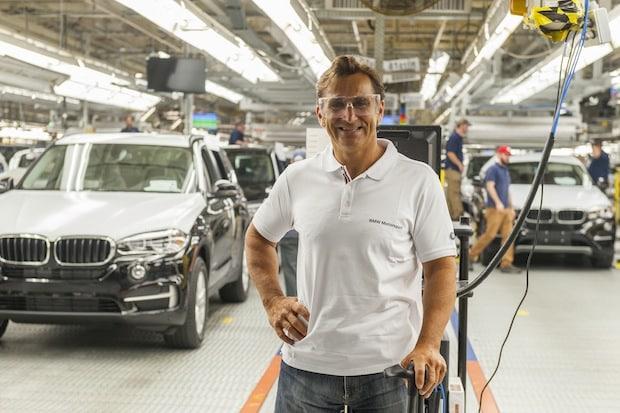 Photo of Alessandro Zanardi zu Besuch im BMW Werk Spartanburg