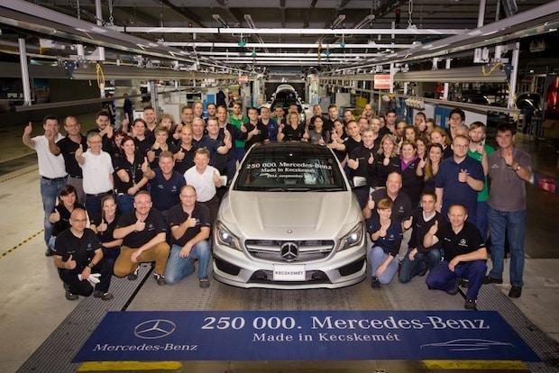 Photo of 250.000ster Mercedes-Benz im Werk Kecskemét