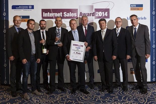 Bild: Siegerfoto Internet Sales Award 2014.