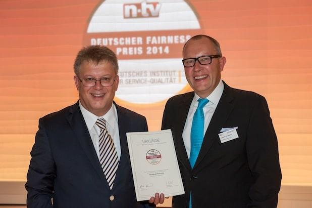 Photo of Buchbinder Rent-a-Car mit Deutschem Fairness-Preis 2014 ausgezeichnet