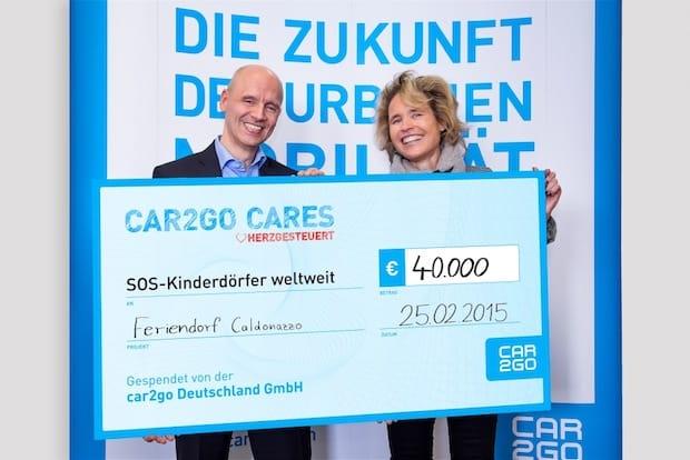 Photo of car2go spendet 40.000 Euro an SOS-Kinderdörfer
