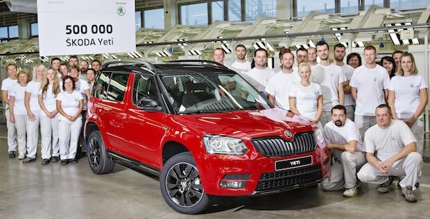 Photo of Erfolgreiches Kompakt-SUV: 500.000 SKODA Yeti in Kvasiny produziert