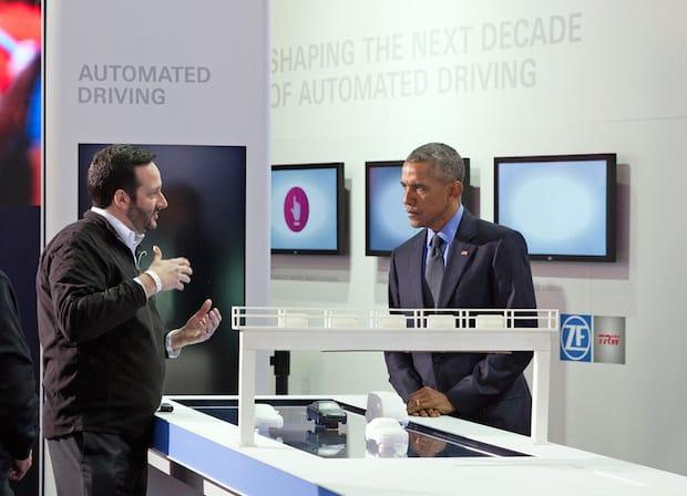 Photo of US-Präsident Obama besucht ZF-Stand auf der NAIAS in Detroit