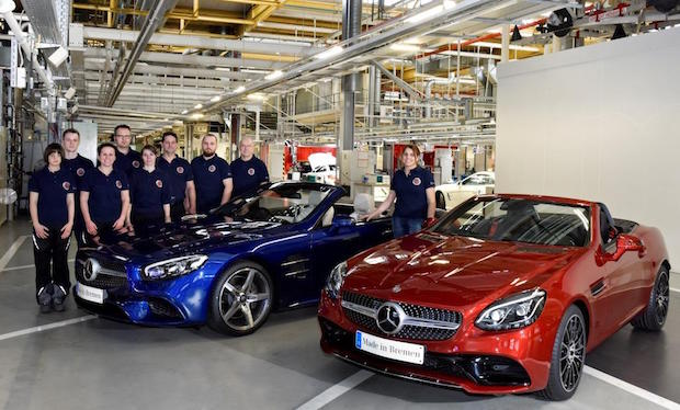 Photo of Mercedes-Benz Werk Bremen startet Produktion der neuen Roadster SL und SLC