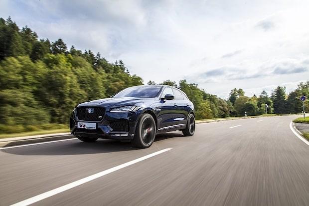 Photo of KW entwickelt individuelle Tieferlegung für Jaguar F-Pace